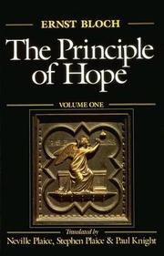 Cover of: The Principle of Hope, Vol. 1