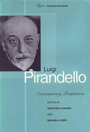 Cover of: Luigi Pirandello |