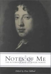 Cover of: Notes of me