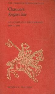 Cover of: Chaucer's Knight's tale