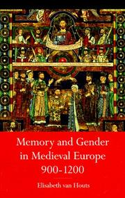 Cover of: Memory and gender in medieval Europe, 900-1200