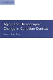 Cover of: Aging and Demographic Change in Canadian Context (Trends Project)