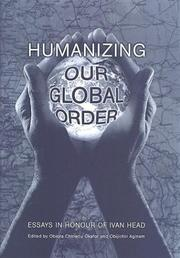 Cover of: Humanizing our global order |