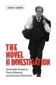 Cover of: The Novel as Investigation | Jo-Ann Cannon