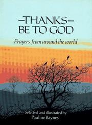 Cover of: Thanks Be to God