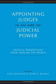 Cover of: Appointing Judges in an Age of Judicial Power |