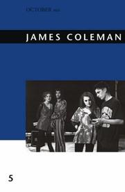 Cover of: James Coleman (October Files)