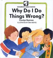 Cover of: Why Do Things Wrong? (Childrens Bible Basics)