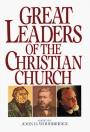 Cover of: Great leaders of the Christian church