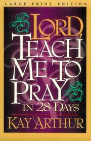 Cover of: Lord, teach me to pray