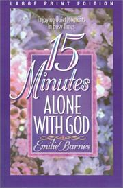 Cover of: 15 minutes alone with God