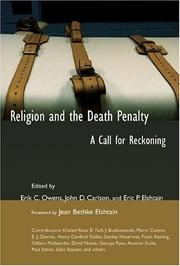 Cover of: Religion and the Death Penalty |
