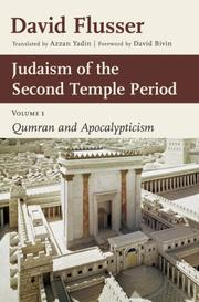 Cover of: Judaism of the Second Temple period