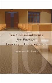 Cover of: Ten Commandments for Pastors Leaving a Congregation