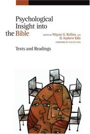 Cover of: Psychological Insight into the Bible |