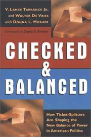Cover of: Checked and balanced