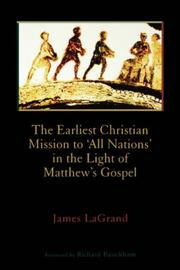 "Cover of: The earliest Christian mission to ""all nations"" in the light of Matthew's Gospel"