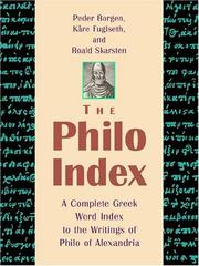 Cover of: The Philo index