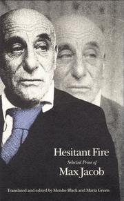 Cover of: Hesitant fire: selected prose of Max Jacob
