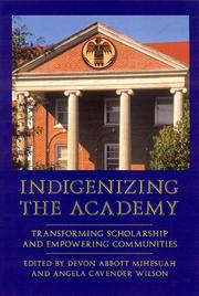 Cover of: Indigenizing the academy