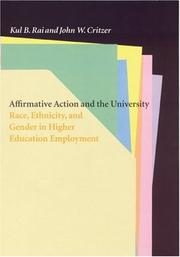 Cover of: Affirmative action and the university