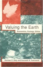 Cover of: Valuing the earth