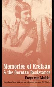 Cover of: Memories of Kreisau and the German Resistance