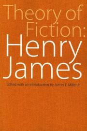 Cover of: Theory of Fiction: Henry James (Bison Book)