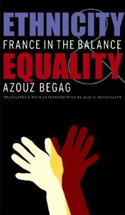 Cover of: Ethnicity and Equality