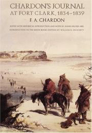 Journal at Fort Clark by Francis A. Chardon