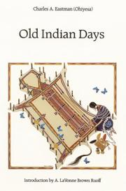 Cover of: Old Indian days