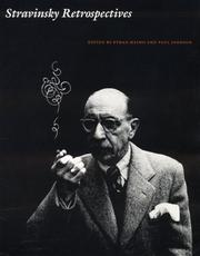 Cover of: Stravinsky Retrospectives |