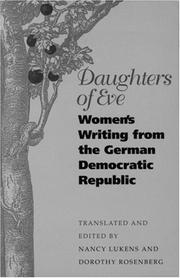 Cover of: Daughters of Eve | translated and edited by Nancy Lukens and Dorothy Rosenberg.