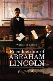 Cover of: Recollections of Abraham Lincoln