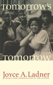 Cover of: Tomorrow's tomorrow