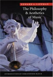 Cover of: The philosophy & aesthetics of music