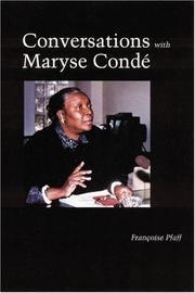 Cover of: Conversations with Maryse Condé