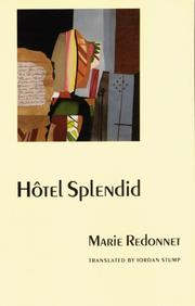 Cover of: Hôtel splendid | Marie Redonnet