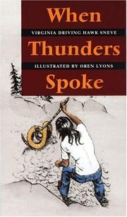 Cover of: When Thunders spoke
