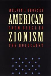 Cover of: American Zionism from Herzl to the Holocaust