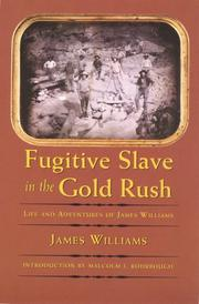 Fugitive slave in the Gold Rush by Williams, James