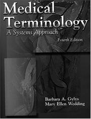 Cover of: Medical terminology | Barbara A. Gylys