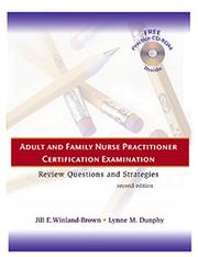 Cover of: Adult and family nurse practitioner certification examination