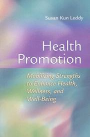 Cover of: Health promotion | Susan Leddy