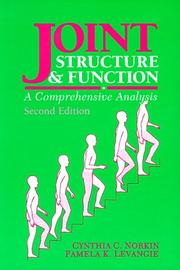 Cover of: Joint structure & function: a comprehensive analysis