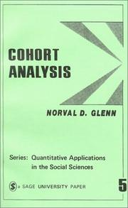 Cover of: Cohort Analysis (Quantitative Applications in the Social Sciences)