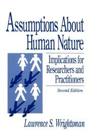 Cover of: Assumptions about Human Nature