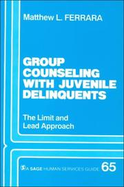 Cover of: Group counseling with juvenile delinquents