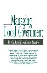 Cover of: Managing Local Government