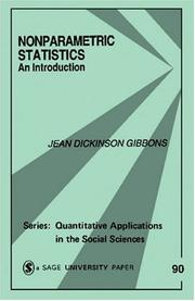 Cover of: Nonparametric Statistics